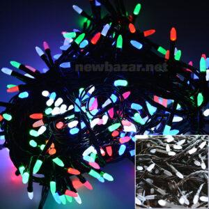 Гирлянда 200 LED конус-рис mix. Купить гирлянды оптом, новогодние гирлянды