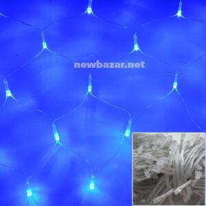 Гирлянда сетка 1.2-1 синяя. Купить гирлянды оптом, новогодние гирлянды