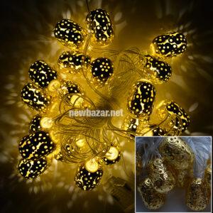 Гирлянда золотая 2-50 жёлудь