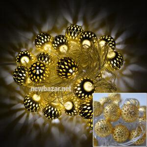 Гирлянда золотая 2-48 шарики