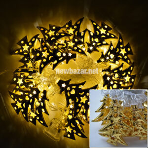 Гирлянда золотая 2-52 ялинка