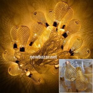 Гирлянда золотая 2-54 груша мал
