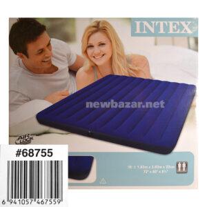 НАДУВНОЙ ДВУСПАЛЬНЫЙ МАТРАС CLASSIC DOWNY BED INTEX 68755 NB
