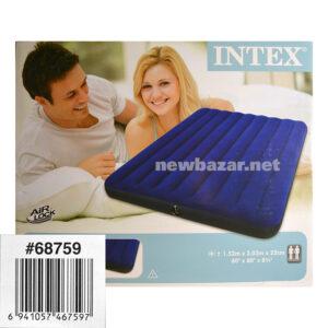ДВУХСПАЛЬНЫЙ НАДУВНОЙ МАТРАС INTEX CLASSIC DOWNY BED 68759 NB