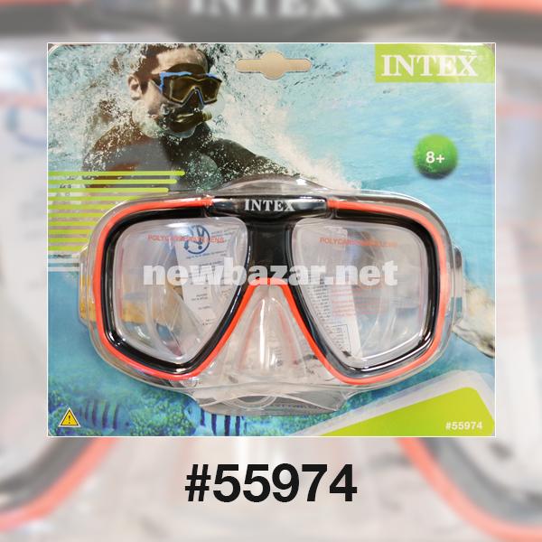 Intex 55974 МАСКА ДЛЯ ПЛАВАНИЯ REEF RIDER RED