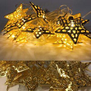 Гирлянда золотая 2-57 зірка