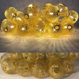Гирлянда золотая 2-55 ліхтарі