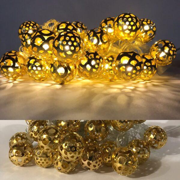 Гирлянда золотая 2-51 кулька