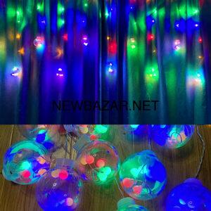 Штора 10 больших шаров 12 микс