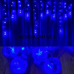 Штора 10 больших шаров 12 синий