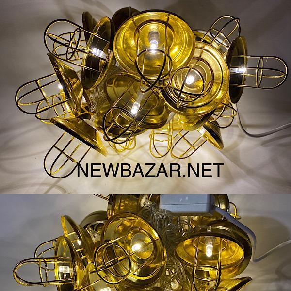 Гирлянда золото лофт светильник 1690—07